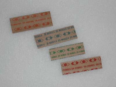 Coin Wrappers - 25 Cent Flat Wrap