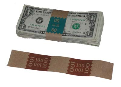 Currenct bands for wrapping cash